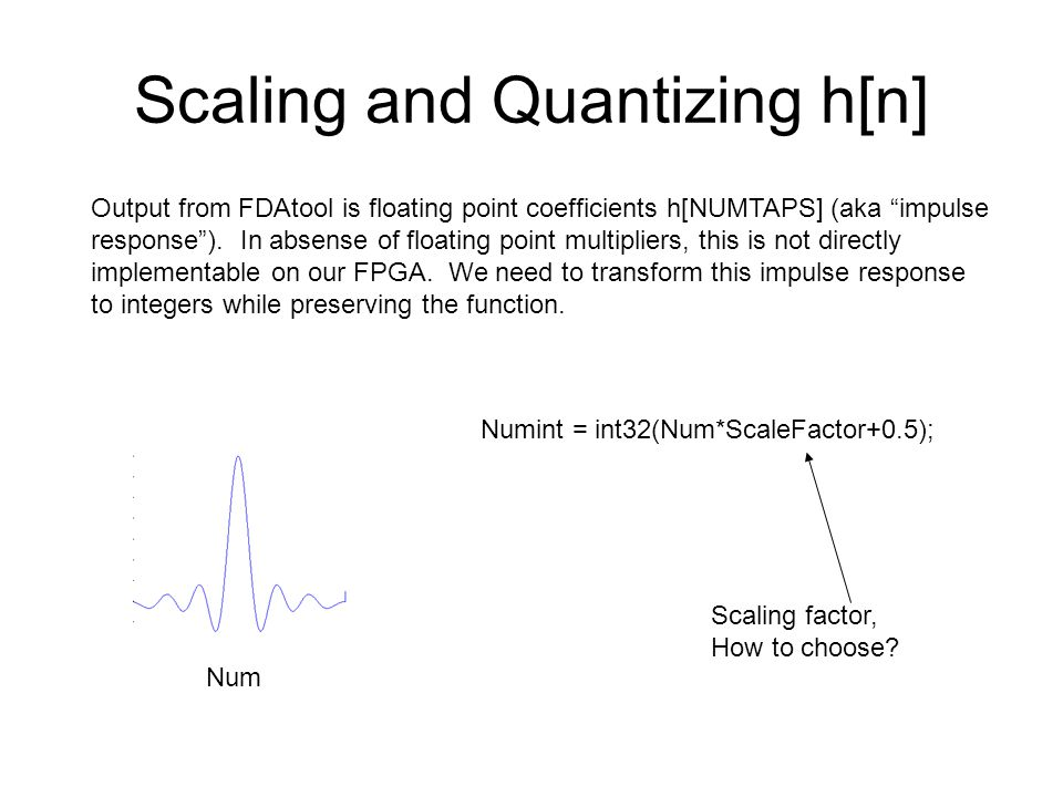 Scaling and Quantizing h[n]